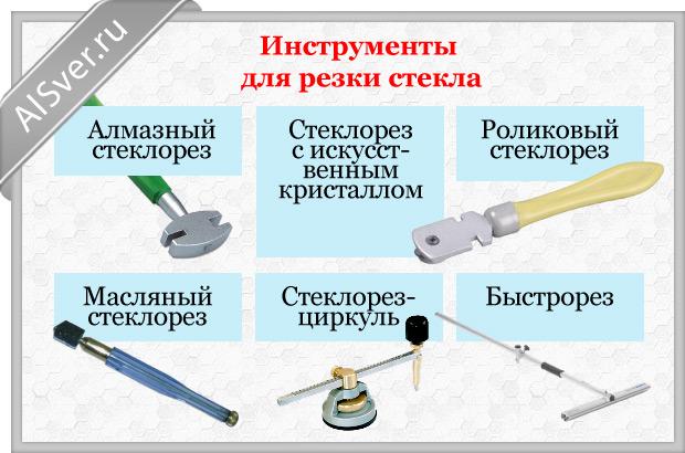 инструменты для резки стекол