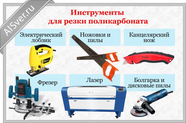 инструменты для резка поликарбоната